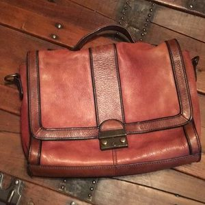 Vintage Fossil Leather Satchel